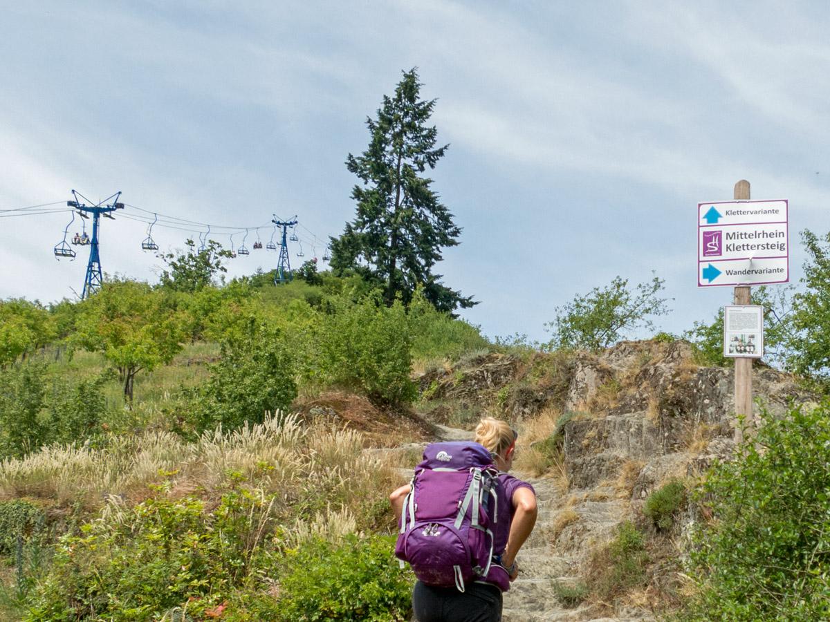 Klettersteig Set Ausborgen : Der mittelrhein klettersteig in boppard wandernbonn