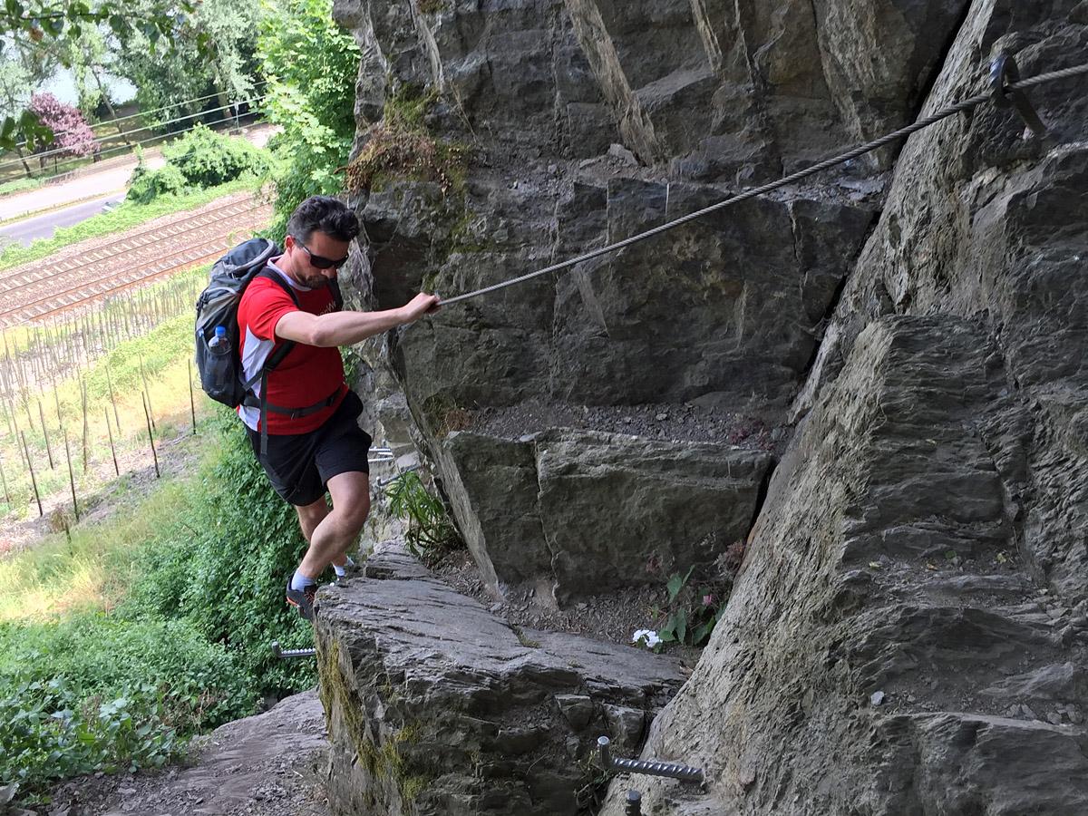 Klettersteig Rheinsteig Boppard : Der mittelrhein klettersteig in boppard wandernbonn