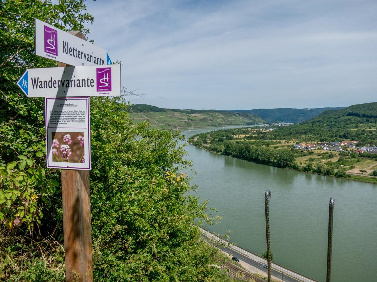 Klettersteigset Selber Knoten : Der mittelrhein klettersteig in boppard wandernbonn.de